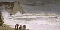 Raue See bei Etretat von Claude Monet
