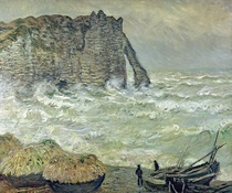 Rough Sea at Etretat by Claude Monet