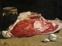 Stillleben mit Fleisch von Claude Monet