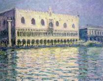 Der Dogenpalast, Venedig von Claude Monet