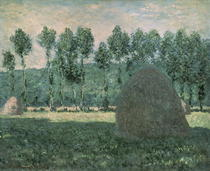 Haystacks near Giverny by Claude Monet