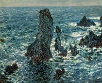 The Rocks at Belle Ile by Claude Monet