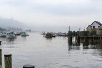 Foggy Fishing Village by John Bailey