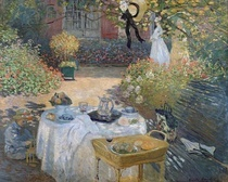 The Luncheon: Monet`s garden at Argenteuil by Claude Monet