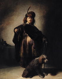 Self Portrait in Oriental Costume by Rembrandt Harmenszoon van Rijn