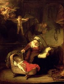 Die heilige Familie von Rembrandt Harmenszoon van Rijn