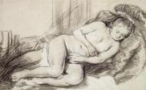 Liegender Frauenakt von Rembrandt Harmenszoon van Rijn