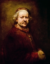 Self Portrait in at the Age of 63 by Rembrandt Harmenszoon van Rijn
