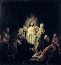 The Incredulity of St. Thomas  by Rembrandt Harmenszoon van Rijn