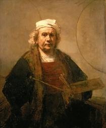 Selbstbildnis in orientalischem Kostüm von Rembrandt Harmenszoon van Rijn