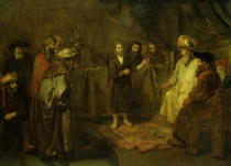 The Twelve Year Old Jesus in front of the Scribes by Rembrandt Harmenszoon van Rijn