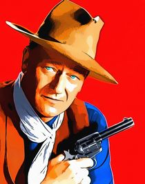 John Wayne in Rio Bravo von Art Cinema Gallery