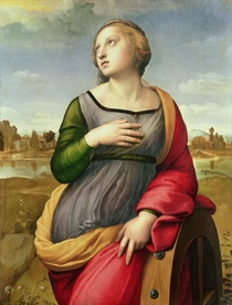 St. Catherine of Alexandria by Raffaello Sanzio of Urbino