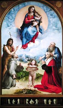 The Foligno Madonna by Raffaello Sanzio of Urbino