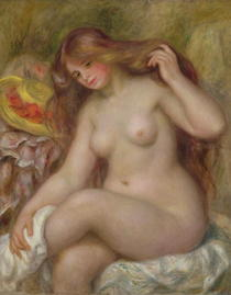 Bather by Pierre-Auguste Renoir