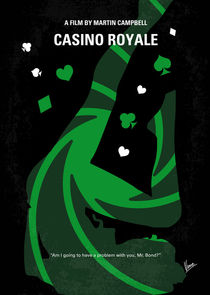 No277-007-2 My Casino Royale minimal movie poster von chungkong