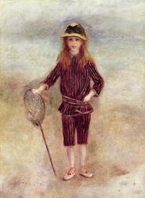 The Little Fisherwoman (Marthe Berard) by Pierre-Auguste Renoir