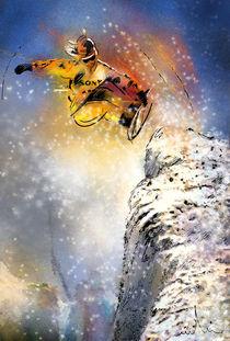 Snowboarding 01 von Miki de Goodaboom
