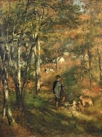 Jules Le Coeur in the Forest of Fontainebleau by Pierre-Auguste Renoir