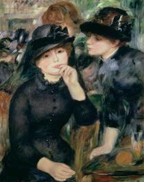 Schwarz gekleidete Mädchen von Pierre-Auguste Renoir
