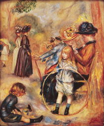 In the Luxembourg Gardens by Pierre-Auguste Renoir