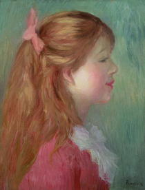 Young girl with Long hair in profile by Pierre-Auguste Renoir