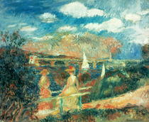 The banks of the Seine at Argenteuil by Pierre-Auguste Renoir