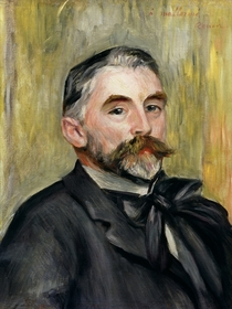 Portrait of Stephane Mallarme by Pierre-Auguste Renoir