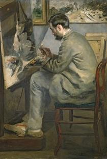 Frederic Bazille an seiner Staffelei von Pierre-Auguste Renoir