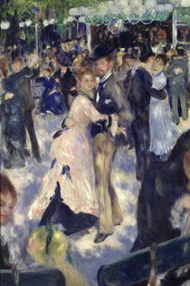 Le Moulin de la Galette, detail of the dancers by Pierre-Auguste Renoir