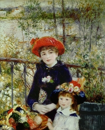 Two Sisters, or On The Terrace by Pierre-Auguste Renoir