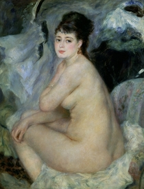 Nude, or Nude Seated on a Sofa by Pierre-Auguste Renoir