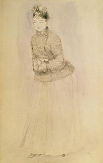 Frau mit Muff von Pierre-Auguste Renoir