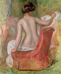 Nude in an Armchair by Pierre-Auguste Renoir