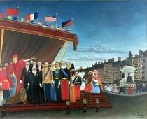 Die Repräsentanten der auswärtigen Mächte kommen, um der Republi von Henri J.F. Rousseau