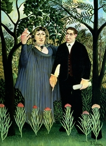 The Muse Inspiring the Poet by Henri J.F. Rousseau