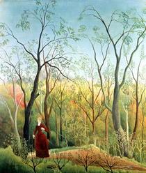 Spaziergang im Wald von Henri J.F. Rousseau