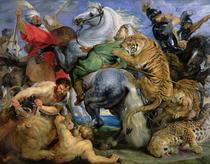 Die Tigerjagd von Peter Paul Rubens