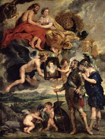 The Medici Cycle: Henri IV Receiving the Portrait of Marie de Me by Peter Paul Rubens