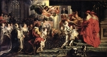 The Coronation of Marie de Medici at St. Denis by Peter Paul Rubens