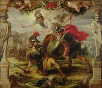 Achilles Defeating Hector by Peter Paul Rubens