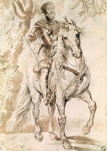 Study for an equestrian portrait of the Duke of Lerma by Peter Paul Rubens