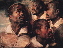 Studies of the Head of a Negro by Peter Paul Rubens