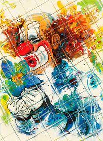 Clown mit Blüte von Barbara Tolnay