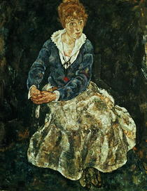 The Artist`s wife seated by Egon Schiele