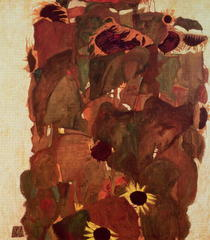 Sunflowers II by Egon Schiele