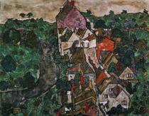 Landscape at Krumau by Egon Schiele