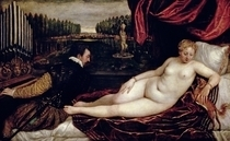 Venus and the Organist by Tiziano Vecellio
