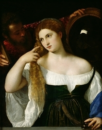 Portrait of a Woman at her Toilet by Tiziano Vecellio
