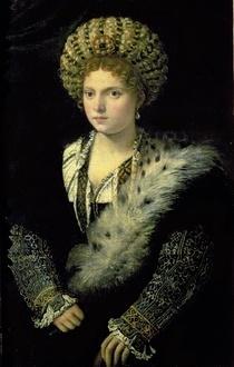 Portrait der Isabella d'Este von Tiziano Vecellio